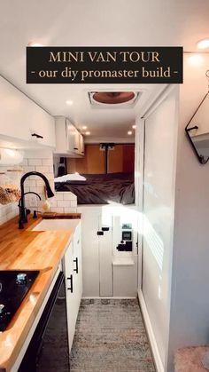 Van Conversion Videos, Van Conversion Interior, Sprinter Van Conversion, Camper Van Conversion Diy, Living In A Camper, Bus Living, Tiny House Living, Campervan Interior, Rv Interior