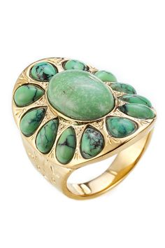 Navajo Gold-Plated Ring from AURÉLIE BIDERMANN | Luxury fashion online | STYLEBOP.com