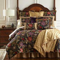 Austin Horn Classics Escapade Reversible Comforter Set in Black - BedBathandBeyond.com