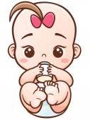 Lindo bebé de la historieta Ilustraciones De Stock Sin Royalties Gratis