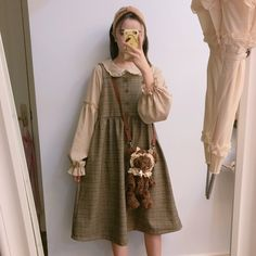 Do you think I should buy it? Mori Girl Fashion, Lolita Fashion, Aesthetic Fashion, Aesthetic Clothes, Aesthetic Outfit, Goth Hippie, Nu Goth, Japanese Fashion, Korean Fashion