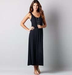 I need a long dress to wear to a summer wedding. This might be too casual but I could dress it up with jewelry.