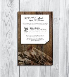 Printable Wedding Invitation Mountain Series Made by PaperandDots, $18.00