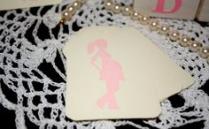 Baby Shower Gift Tags  Girl  Pink  Pregnant by Booksonblocks, $3.95