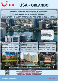 Viaja con nuestra #oferta #smart a #Orlando este mes de #Noviembre