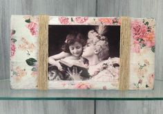 HANDMADE-DISTRESSED-SHABBY-CHIC-VINTAGE-RUSTIC-ROSE-DECOUPAGE-PHOTO-FRAME-6X4