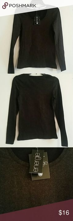 *NWT* Long sleeve shimmer top *NWT* Energie long sleeve shimmer top, size Medium. Color on tag is caviar. Energie Tops