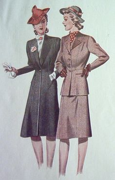 German 40's fashion.  I love everything from the 40's - fashion, hair, shoes - all of it!