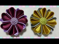 Tutorial Kanzashi for beginner 5 - YouTube