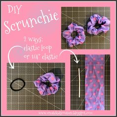 hair scrunchies diy crochet Create Kids Couture: DIY Hair Scrunchies using storebought hair elastics OR elastic Blog Couture, Diy Couture, Sewing Projects For Beginners, Sewing Tutorials, Sewing Tips, Sewing Hacks, No Sew Projects, Easy Kids Sewing Projects, Sewing Crafts