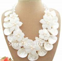 Maravilloso! 2 filamentos de La Perla y Shell y Collar de Cristal