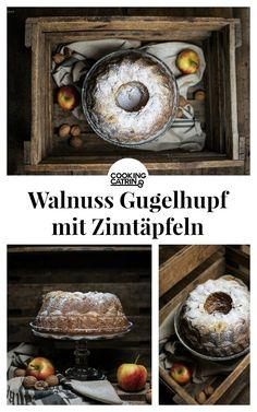 Walnuss Gugelhupf, walnut, boundt cake, zimtäpfel, cinnamon, herbstkuchen, winterkuchen, herbstzeit, backen, baking, winterzeit, zimt, apples, dessert, cake, sweet, nachtisch, nüsse, nuts, traditionsrezept, herbstrezept,