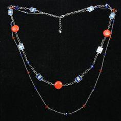 Florida Gators Womens Crystal Bead Necklace