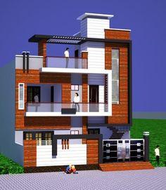Front Elevation Designs, House Elevation, Duplex House Design, House Front Design, Building Front, Building Design, Mantra, 2d, Design Ideas