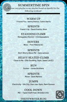 Spin Playlist, Spotify Playlist, Playlist Ideas, Velo Spinning, Spin Class Routine, Spin Bike Workouts, Summer Workouts, Song Workouts, Swimming Workouts