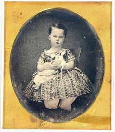 1843 Kid With Doll Daguerreotype.
