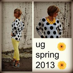 love the polka dots. So big for spring!