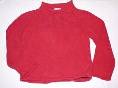 Crewcuts J.Crew Red Rollneck Mock Long Sleeve Pullover Sweater Top Boys XS 4 5 #Crewcuts #Everyday