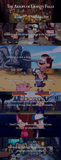 The Aesops of Gravity Falls - Season 1 Episodes 7-12