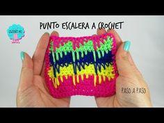 Tutorial punto escalera a crochet - YouTube