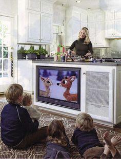 tv in island/ cool idea