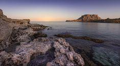 Agathi beach sunset. by Davide Luzzi