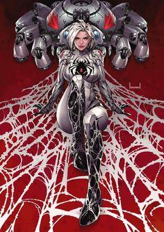 White Widow by Kael Ngu Spiderman Black Cat, All Spiderman, Black Cat Marvel, Marvel Comics Art, Anime Comics, Marvel Heroes, Marvel Girls, Comics Girls, Comic Books Art