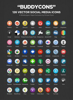 Website Resources | Free Icons | Free Social Media Icons | Free Brushes + Patterns + Background Resources
