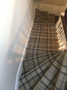 #staircase #tartan #masterfitting #carpets #flooring #home