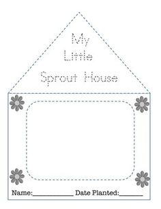 My Little Sprout House Template Science Experiments Kids, Science For Kids, Science Projects, Kindergarten Activities, Preschool Activities, Date Plant, Little Green House, House Template, Trade Books