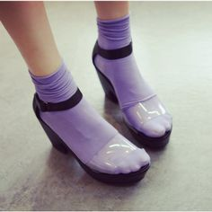 Summer new arrival 2013 elegant sweet candy color transparent patchwork wedges sandals-inSandals from Shoes on Aliexpress.com