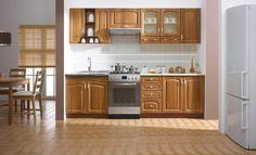 Kuchyňa BogFran Delicja Retro Orech 260cm vrátane pracovnej dosky.