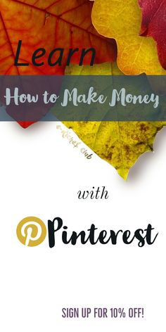 Learn how to make money with Pinterest and start earning extra money! Sign up for E-riches Club's Newsletter and get a 10% Off coupon to the course 5 Days to Profitable Affiliate Pinning from Organize Your Biz! Exclusive offer through my affiliate link, valid only until Oct. 31st, 2017! #organizeyourbiz #affiliatepinning #makemoneyonline #education #5DTPAP #pinterestmarketing