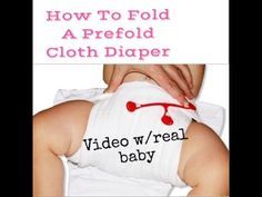 In this video I will show you how to fold a prefold diaper using a snappi and cover and also a cover with no snappi or pins. The brand of refolds that I'm us...
