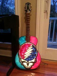 stain glass guitar grateful dead