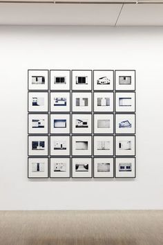 https://photography-classes-workshops.blogspot.com/2013/12/photography-exhibitions.html #Photography LEWIS BALTZ Installation view (presentation?? abundance of images overwhelm)