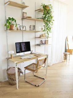 bureau étagères crémaillère DIY