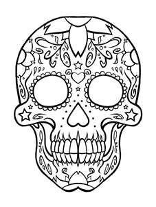 sugar skulls coloring pages <b>skull</b> day of the dead <b ... - Simple Sugar Skull Coloring Pages