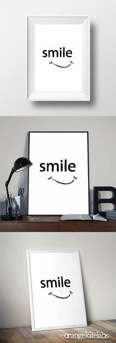 Printable poster smile, #Scandinavian art #Printable_poster_smile #Black_and_white_art #room_decor #wall_art #wall_decor #minimalist_wall_art #monochrome_printable Wall Decor, Room Decor, Scandinavian Art, White Art, Printable Wall Art, Monochrome, Minimalist, Printables, Smile