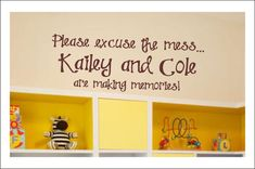 Playroom Childrens Decor Vinyl Wall Lettering Art - Girl or Boy Bedroom Childrens Wall Decal Vinyl