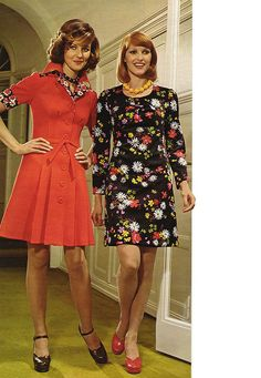 Retro fashion pictures from the and 1974 Fashion, 60s And 70s Fashion, Retro Fashion, Fashion Models, Vintage Fashion, Womens Fashion, Fashion Trends, 70s Mode, Retro Mode