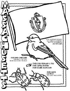 The Wild Horses of Sweetbriar & Paul Revere's Ride - Massachusetts coloring page