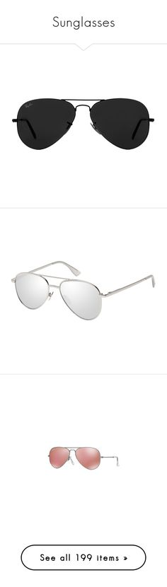 """""""Sunglasses"""" by bleubeauty1 on Polyvore featuring accessories, eyewear, sunglasses, glasses, sunnies, ray ban aviator, aviator sunglasses, aviator style glasses, ray ban sunnies and ray ban sunglasses"""
