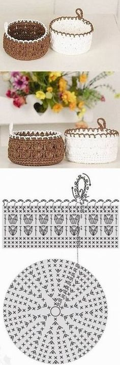 How to crochet a round basket