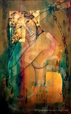 Listening to Myself  30″ x 44″ Acrylic on gallery wrapped canvas.  Original and prints available through pegismith.com