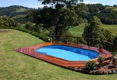 Image detail for -Above Ground Pool with deck around
