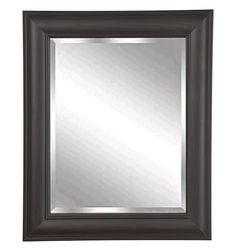 "Rayne Mirrors Home Decorative Brazilian Walnut Rectangle Framed Wall Mirror 27""""x 31"""""