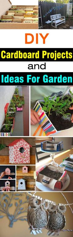 DIY Cardboard Projects & Ideas For Garden