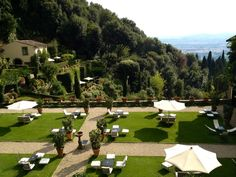 the Villa San Michele by Belmond hotel was formerly a monastery. Located in the hills overlooking Florence, Italy, it is now a boutique luxury hotel and a quiet place to stay.
