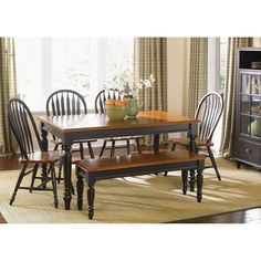 Liberty Furniture Low Country Black Rectangle Leg Dining Table - 80-T3876